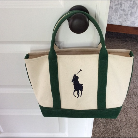 Polo by Ralph Lauren Bags   Polo Ralph Lauren Canvas Tote Green ... 16437274ee
